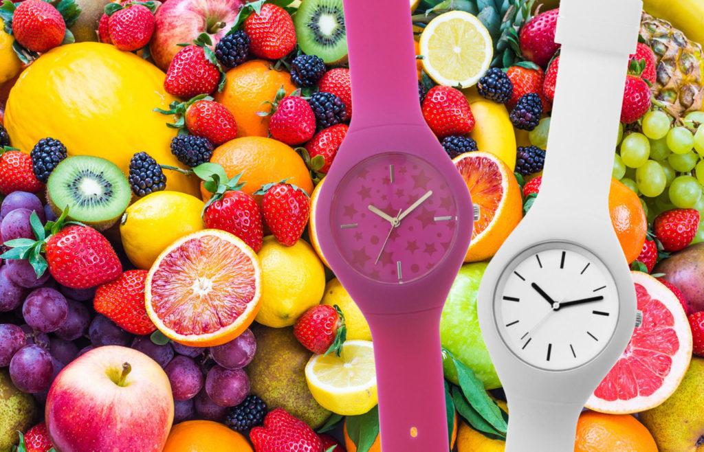 orologio in silicone colorato regalo