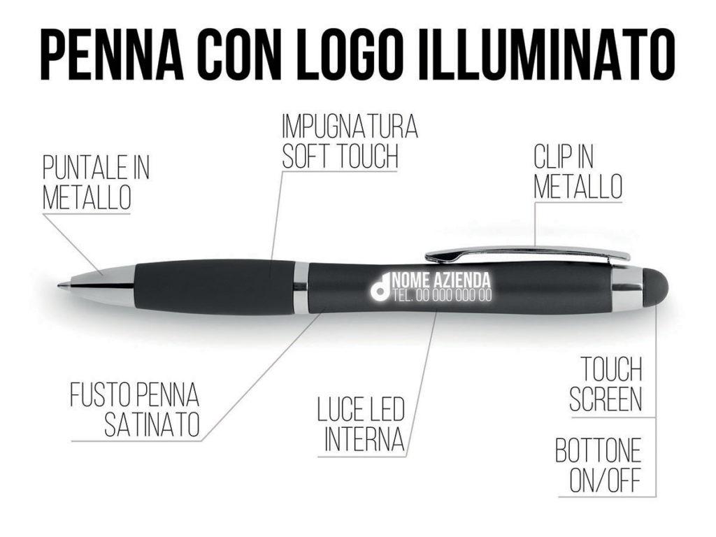 penna gadget con la luce LED